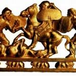 Гребінь. Фрагмент. Скіфське золото. IV ст. до Різдва Христового.