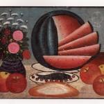 Натюрморт з кавуном. Д.Г.Перепелиця, близько 1937.