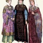 Тип жіночого боярського вбрання періоду Київської Русі.