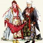 Одяг заможних селянок. Київщина. Кінець ХVIII - початок ХІХ ст.