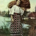 Жниця. Листівка початку ХХ ст.