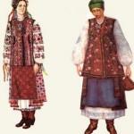 Дівоче святкове вбрання. Чернігівщина. Жіноче вбрання. Черкащина.