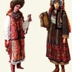 Дівочий святковий костюм. Дніпропетровщина. Дівочий святковий костюм. Буковина.