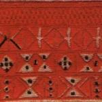 Вишивка. Фрагмент. (Домоткане полотно, бавовняні нитки, гладь). Львівщина, XIX ст.