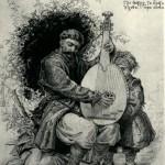 Кобзар Петро Сіроштан. О.Сластіон, 1887.
