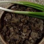 Гриби смажені, печериці. Їх смажать на олії, вершковому маслі, смальці, часто по тому притушковують у сметані. Гриби на Поліссі споживають не лише у піст, але й у м'ясоїд: у сезон – свіжі, а в міжсезоння – сушені й солоні. Досі подекуди зберігся суто поліський варіант соління грибів у готовому розсолі з-під огірків