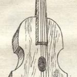 Старовинна Поліська скрипка. І.Д.Назіна. Білоруські народні музичні інструменти. Мінськ, 1982