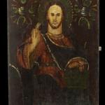 Христос Вседержитель. м. Чорнобиль. Прибл. 2-га половина ХІХ ст. 39,6 х 29,6 см. УЦНК