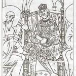 Князівський одяг. Фрески кирилівської церкви, Київ