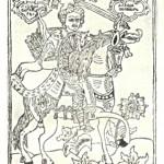 Сильний богатир Альоша Попович. Лубочна картина XVІІІ ст.