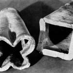 Циліндричні плоскодонні кахлі, ХIV ст.