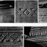 Фрагменти орнаментів на сірих керамічних горщиках. Середина ХVI ст.