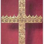 Хрест із золотих діадем (ХІІІ ст.), із львівського княжого скарбу, зроблений з княжих корон