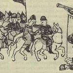 Музики на оборонних вежах міста. Мініатюра з Радзивілівського літопису. XVст.