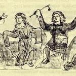 Музики і танцівники. Мініатюра з Радзивілівського літопису. XVст.