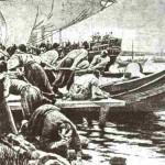 Запорожці споряжаються у морський похід