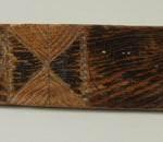 Судничок. ХІХ ст. Волинська губ., Дерево, різьблення, 199 х 7 см. ДМУНДМ