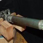 Гармата. ХVІІІ ст. Бронза, лиття. Довжина - 152 см, калібр - 65 мм. Напис