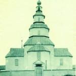 Дерев'яна однобанна Михайлівська церква 1798 р. в селі Лиман на Харківщині. Фото 1910 р.