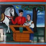 Живопис, народна картина, «Козак і дічина біля криниці», автор невідомий. Сер. ХХ ст. Тернопільщина