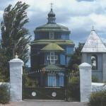Церква Вознесенська 1725 р. побуд.з козацької фортеці Перевалочна.Перевезена 1784 до Берислава і названа Введенською-П